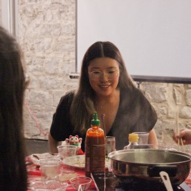 Stephanie Fung as the Production Assistant. Photo by Emily Alldrit