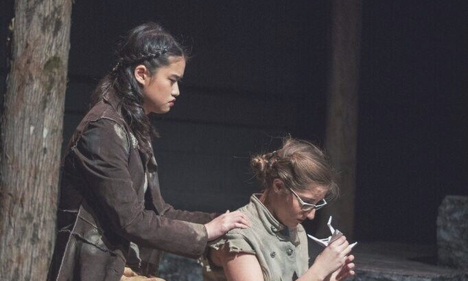 Amanda Lin and Maleeka Thaker performing in Macbeth.